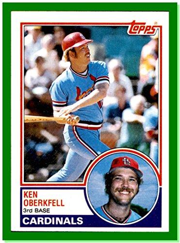 1983 Topps #206 Ken Oberkfell ST. LOUIS CARDINALS (1983 St Louis Cardinals)