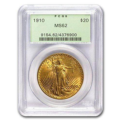 1910 $20 St. Gaudens Gold Double Eagle MS-62 PCGS G$20 MS-62 PCGS