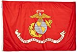 Annin Flagmakers Model 439007 U.S. Marine Corps Military Flag 4×6 ft. Nylon SolarGuard Nyl-Glo 100% Made in USA to Official Specifications. Officially Licensed Manufacturer. Review