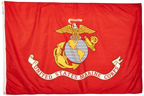 us-marine-corps-military-flag-4x6-ft-nylon-solarguard-nyl-glo-100-made-in-usa-to-official-specificat