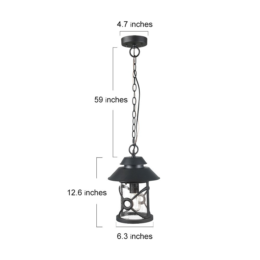 LOG BARN A03316 1-Light Outdoor Lighting Fixtures Farmhouse Style in Hand-Polished Black with Clear Glass