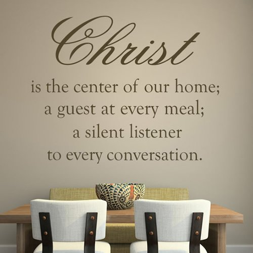 Cheap  azutura Christ Is The Centre Wall Sticker Bible Verse Wall Decal Christianity..