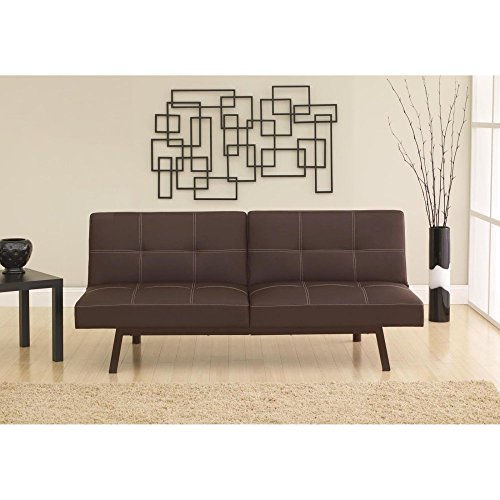 Dorel Living Delaney Splitback Futon in Brown (Delaney Sofa)