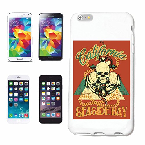 caja del teléfono iPhone 6+ Plus CALIFORNIA SEA lado de la bahía del motorista del cráneo CAMISA GOTHIC bicicletas Club REUNIÓN REUNIÓN MC MOTOCICLETA interruptor de encargo de la motocicleta CLUB C