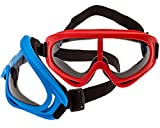 2-Pack Foam Gun and Blaster Face Mask / Goggles / Eye Shield (1 Red Mask - 1 Blue Mask) - Perfect for Foam Blaster Guns From The Name Brand