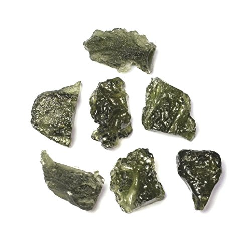 Genuine Rough Moldavite 10-13 Carat Stone