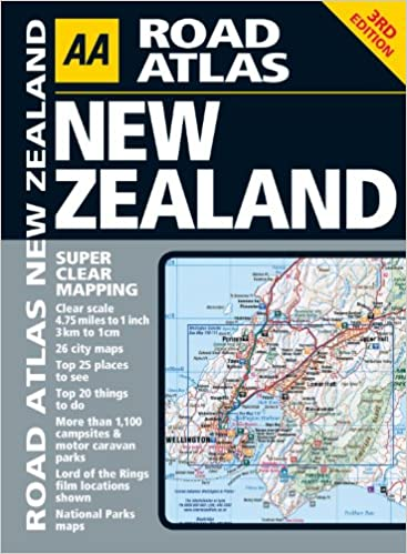 aa road atlas new zealand aa publishing 9780749565473 amazoncom books