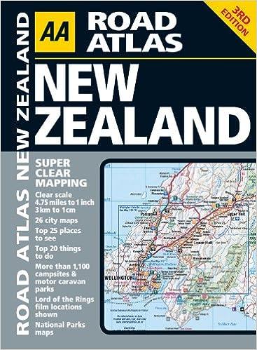 New Zealand Road Map.Road Atlas New Zealand Aa Road Atlas Amazon Co Uk Aa Publishing