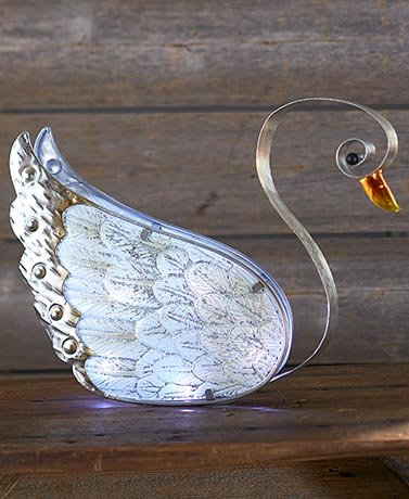 Swan Accent Lamp - Metal and Glass Accent Lamps (Swan)