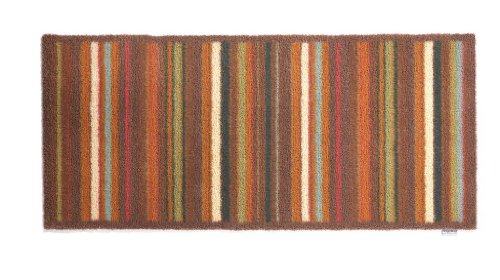 Hug Rug T203 Eco-Friendly Absorbent Dirt Trapping Indoor Washable Runner, 25.5-Inch x 59-Inch, Brown and Tan Multi - Stripe Tan Multi