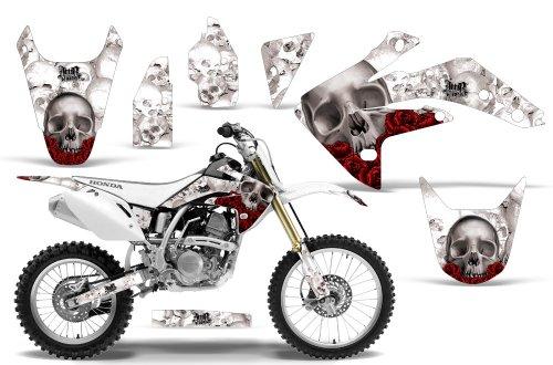 2007-2013 Honda CRF 150R AMRRACING ATV Graphics Decal Kit-Bone Collector-White