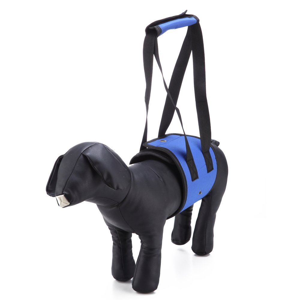 LXLP Dog Lift Harness Support Sling Helps Dogs With Weak Front or Rear Legs Stand Up, Walk, Get Into Cars, Climb Stairs. Best Alternative to Dog Wheelchair (Small, Blue)