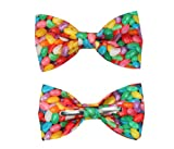 Boys Multi Color Jelly Beans Clip On Cotton Bow Tie