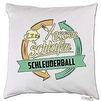 getshirts - RAHMENLOS® Geschenke - Kissen - Sport Schleuderball - weiss uni