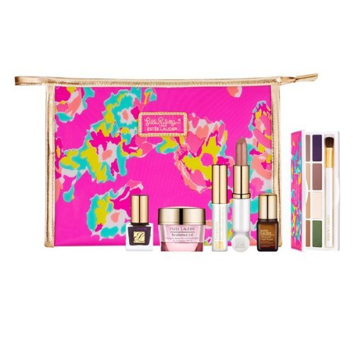 Estee Lauder Spring Makeup Skincare Value $165+ Gift Set 8 Shade Eyeshadow Palette Chic Color Clutch Cosmetic Bag Nordstrom (Tigers Pvc Clutch)
