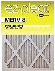 20x25x1 Ez Pleat Merv 8 Air Filters 6 Pack Replacement