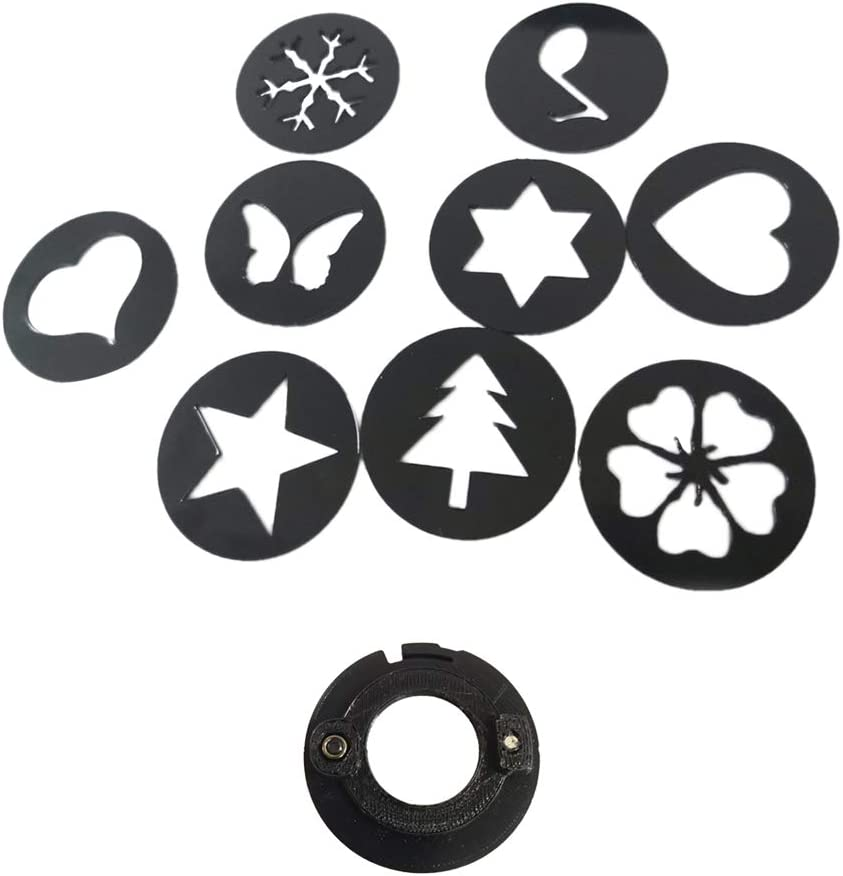 Bokeh Effect Filter Kit with 67mm Lens Cap Cover 10 in 1 for Artistic Scene Wedding Party Wide Application