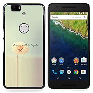Stuss Case / Funda Carcasa protectora - Flor minimalista Citar Texto - Huawei Google Nexus 6P