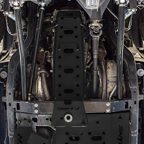 Transmission Skid Guard - Westin Automotive Products 42-21015 Textured Black Snyper Oil Pan/Transmission Skid Plate
