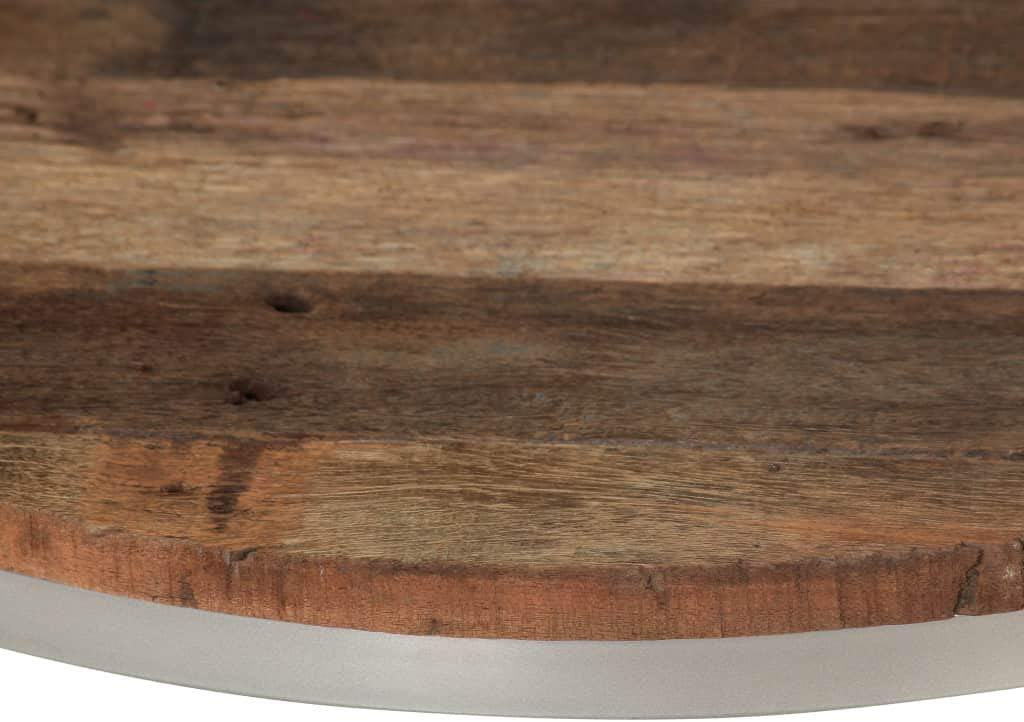 ROMELAREU Set de mesas de Centro de Madera de traviesas y Acero 2 piezasMobiliario Mesas Mesas Decorativas Mesas de Centro: Amazon.es: Hogar