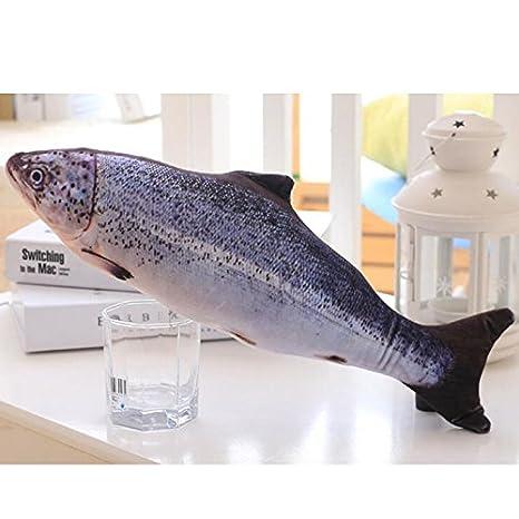 SSXY pez Artificial drôle alimentación de Peluche Pet cojín ...