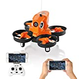 Furibee Mini Drone with Camera Live Video, H801 720P WIFI FPV Drone RC Quaccopter Drone RTF for Beginners, Kids, Altitude Hold, One Key Return, Headless Mode, Easy To Fly
