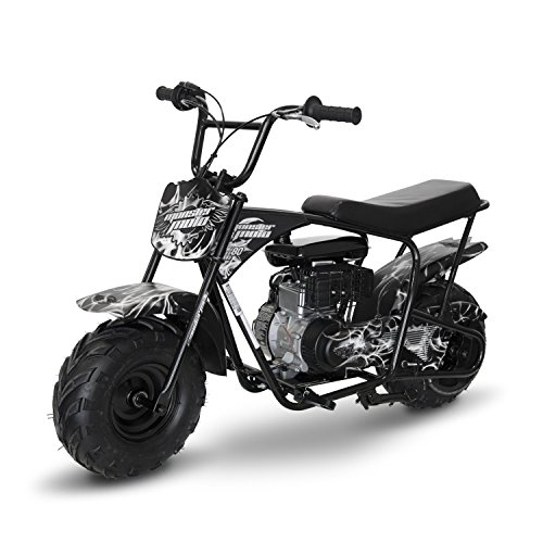 Monsters Scooter - Monster Moto MM-B80-SF White/Black Phantom Flame Mini Bike (80cc/ 2.5Hp)