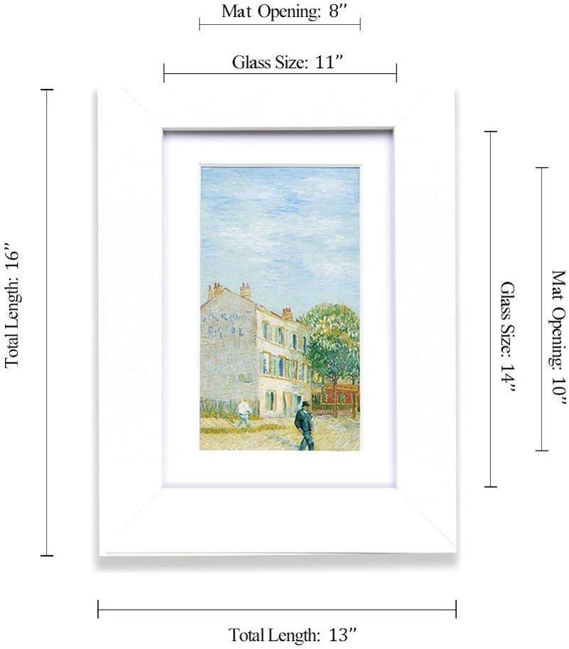 Blanc Bureau Muzilife Lot de 2 Cadres Photo 20x25 cm Vitre en Verre D/écoration Murale pour Chambre Salon