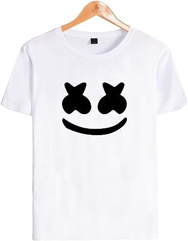 SIMYJOY Niños T-Shirt DJ Cara Sonriente Fans Camiseta Manga Corta Sonido eléctrico Top Cool Camiseta para niños niñas Adolescentes: Amazon.es: Ropa y accesorios