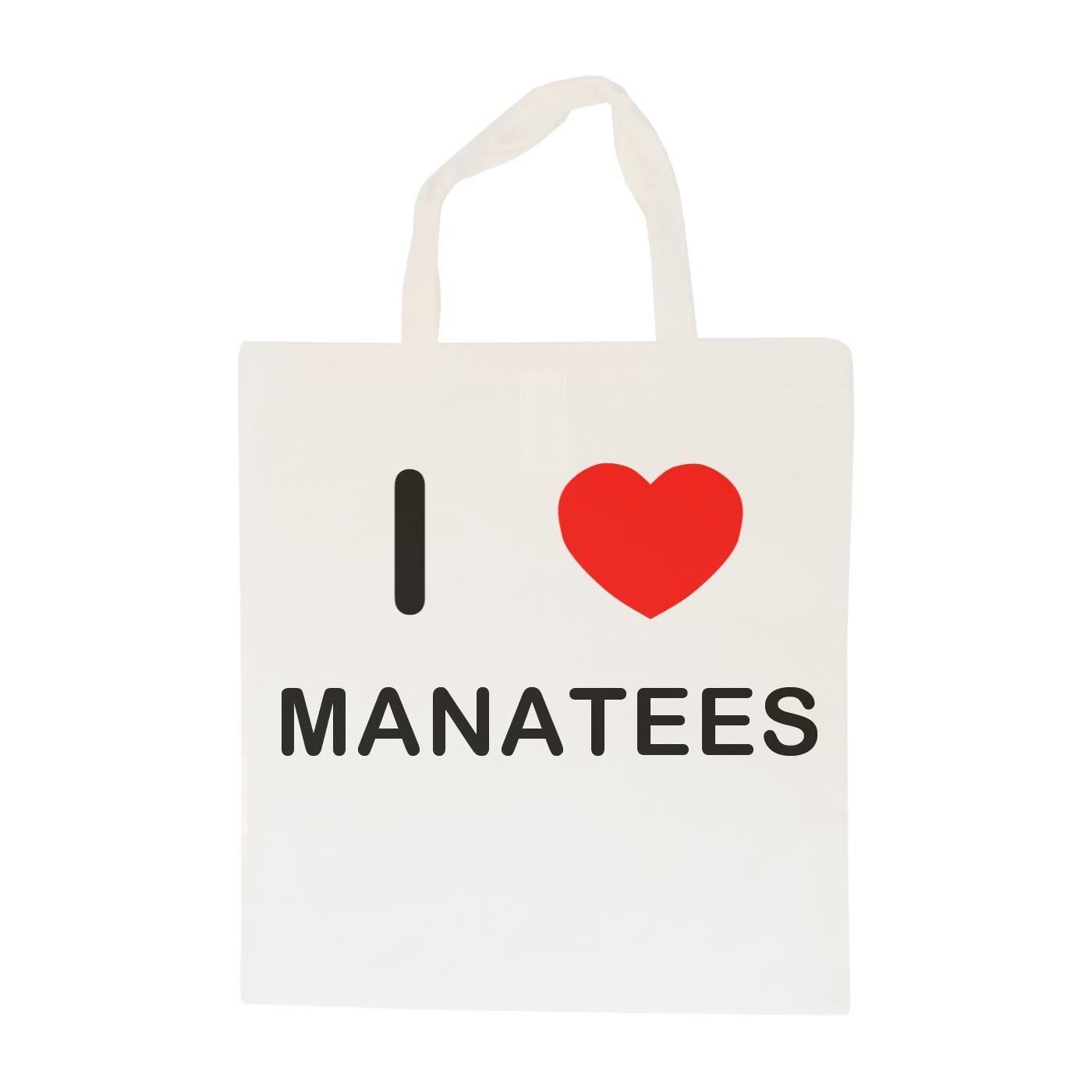 Cotton Maxi Shopping Bag I Love Manatees