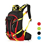 TOMSHOO 20L Backpack Lightweight Water Resistant Bicycle Bike Cycling Travel Camping Hiking Backpack Daypack with Rain Cover Helmet Cover (Red) Review