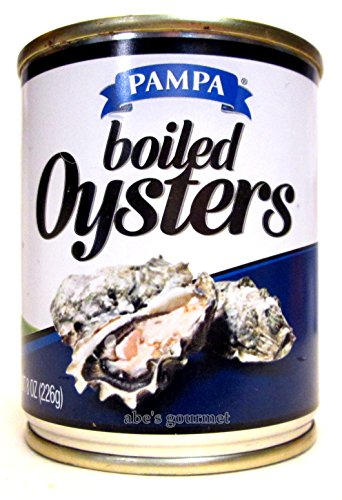 Pampa Boiled Oysters (3 Pack) 8 oz Cans (Oysters Boiled)