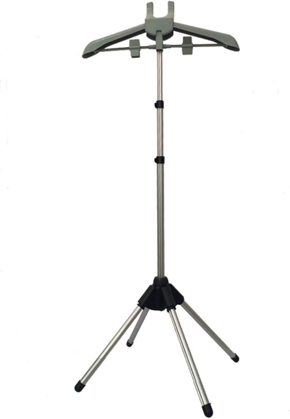Rluii Garment Hanger/Drying Rack/Handheld Clothes Steamer Holder/Fabric Steamer Ironing Steamer Bracket/Pants Hanger/Telescopic Folding Hanger/Garment Steamer Accessories (Gray)