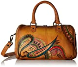 Anna by Anuschka Handpainted Leather Large Zip Around Satchel, Royal Paisley