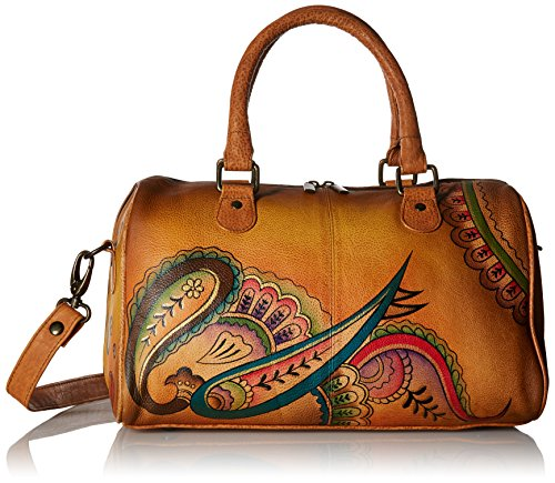 Satchel Around Paisley Large Zip Royal Anuschka RP 4x6CUwa