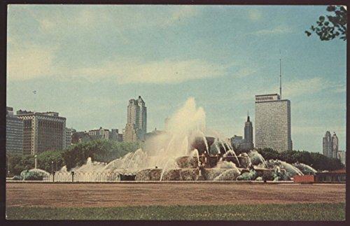 Buckingham Memorial Fountain Grant Park Chicago Illinois Postcard - Buckingham Fountain