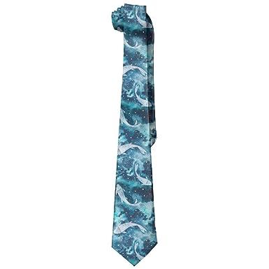 Amazon.com: Peces acuarela corbata sólido corbatas corbata ...