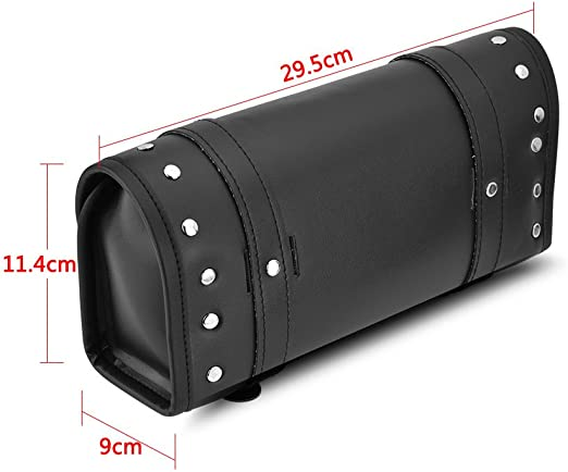 Bolso superior del rollo de la prenda impermeable del cuero de la PU para la moto de la motocicleta Bolsa de herramientas de motocicleta