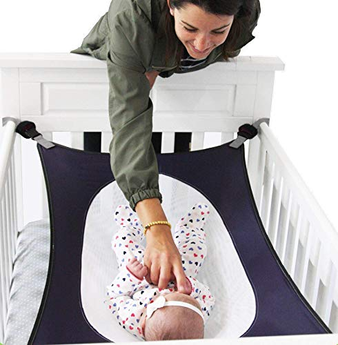 Ashtonn Baby Hammock for Crib (Blue) - an Exceptional Crib Hammock for Your Infant Babies