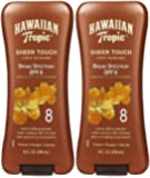 Hawaiian Tropic Sheer Touch Lotion Sunscreen SPF 8, 8 oz, 2 pk