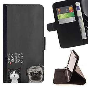 King Case - FOR LG G2 D800 - You still love it - Prima caja de la PU billetera de cuero con ranuras para tarjetas, efectivo Compartimiento desmontable y correa para la mu?eca