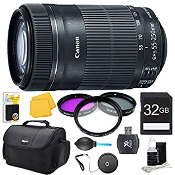 Amazon.com: Canon EF-S 55 – 250 F/4 – 5.6 IS STM (8546b002 ...