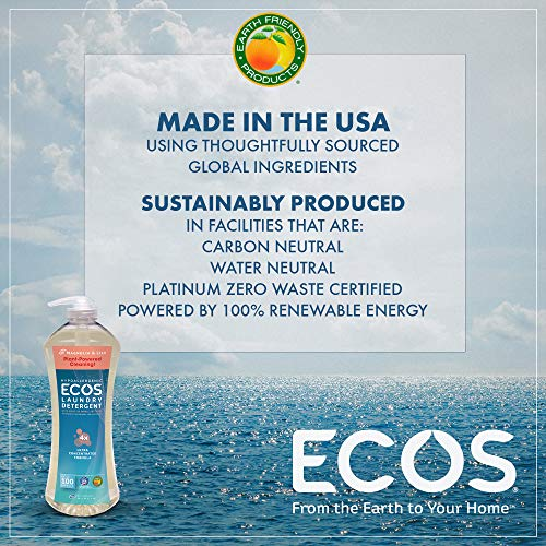 Earth Friendly Products Ecos 4X Ultra Concentrated Liquid Laundry Detergent, 200 Loads, 2 x 50 oz Magnolia & Lily (2Count) by Earth Friendly Products (Image #4)