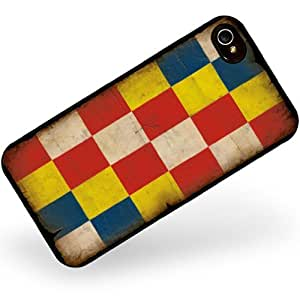 Rubber Case for iphone 4 4s Antwerp Flag with a vintage look - Neonblond