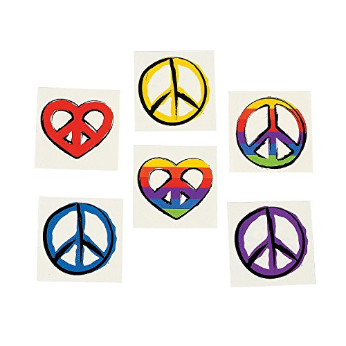 Peace Sign Temporary Tattoos (6 dz) - Retro Party Favors]()