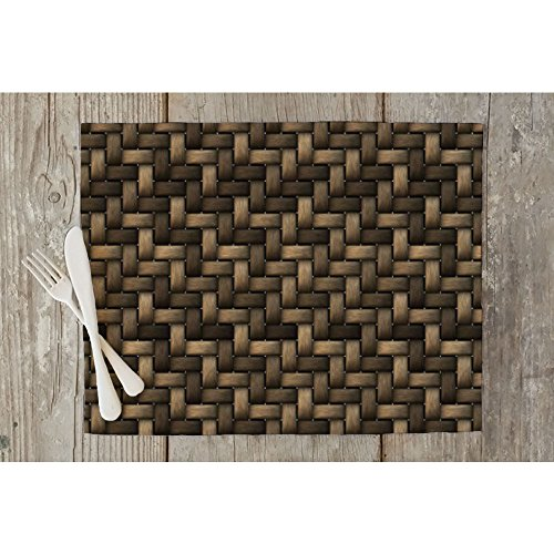 basket table mat placemat silk