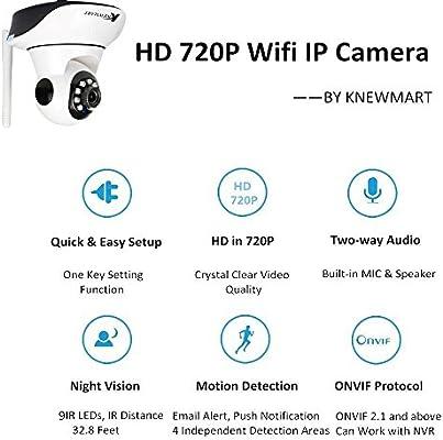 HD Cámara IP wifi inalámbrico de vigilancia circuito cerrado de televisión de visión nocturna IP Camera