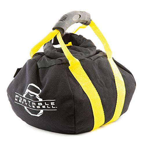 PKB PORTABLE KETTLEBELLS 0-15 lbs: The Original Sandbag Kettlebell - Crossfit, Travel, Yoga, Home Workout Sandbag Training Equipment Fully Adjustable Kettlebell Weights - Yellow 15lbs ()
