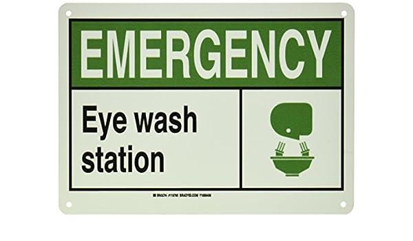 Brady 119765 signode emergencia para lavado de ojos ...