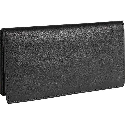 Royce Leather RFID Blocking Checkbook Holder Secretary Wallet in Leather, Black ()